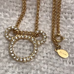 Disney floating Mickey crystal pendant & necklace